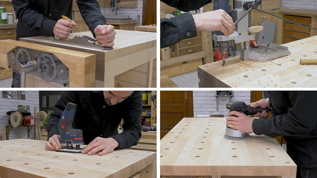 How-make-top-holes-clamp-workbench